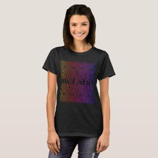 Camiseta playera, Shirt, Irlanda, nudo celta, de colores