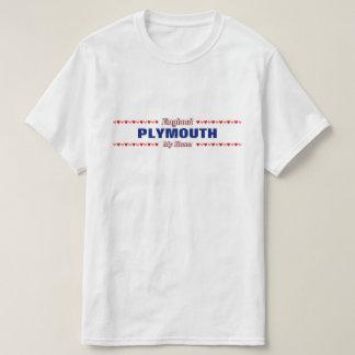 Camiseta PLYMOUTH - mi hogar - Inglaterra; Corazones rojos