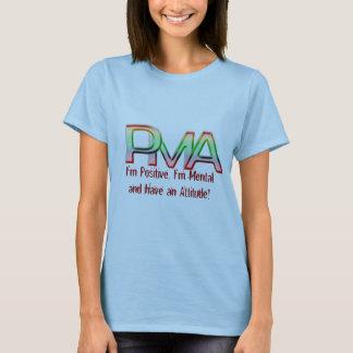 Camiseta PMA, soy positivo, soy mental y tengo una actitud