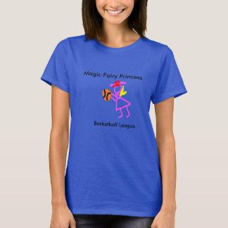 Camiseta poder de hadas mágico del chica de la liga de