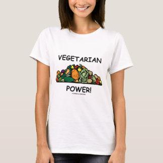 Camiseta ¡Poder vegetariano! (Humor vegetariano)