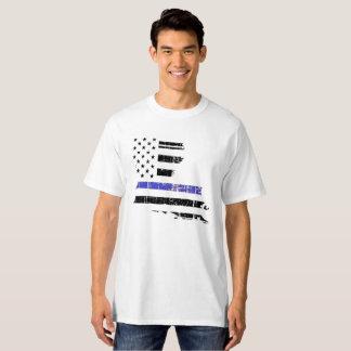 Camiseta Policía fina de la aplicación de ley de Blue Line
