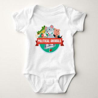 Camiseta política de los bebés de los animales