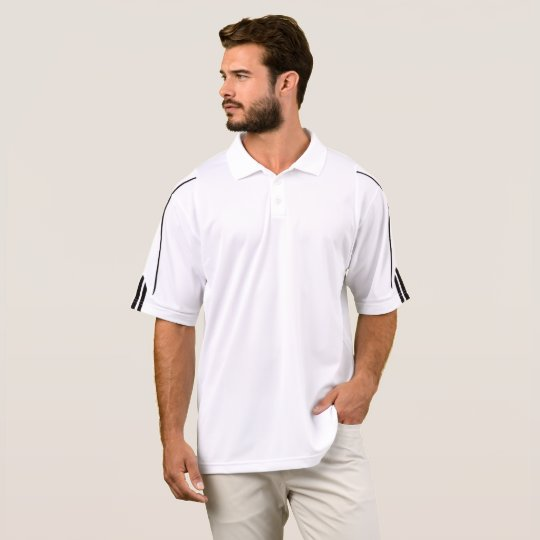 Polo de golf ClimaLite® de Adidas, Blanco/Negro