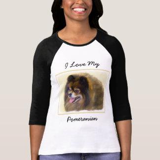 Camiseta Pomeranian (negro y moreno)