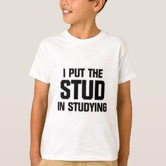 Camiseta Ponga el perno prisionero en estudiar