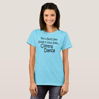 Camiseta Ponga un oscilación del paso del zumbido en su