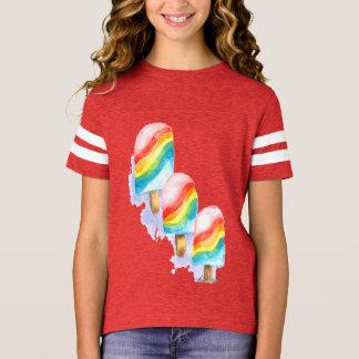 Camiseta Popsicle colorido de la sorpresa del arco iris