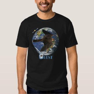 Camiseta por satélite de la búsqueda (oscura)