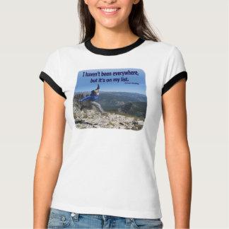 Camiseta Por todas partes está en mi lista