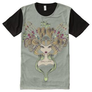 Camiseta Con Estampado Integral Camiseta por todo clair del caqui de Mélusine