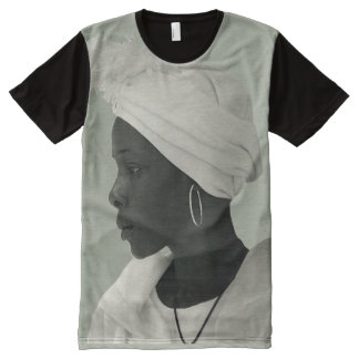 Camiseta Con Estampado Integral Camiseta por todo clair del caqui del chica del