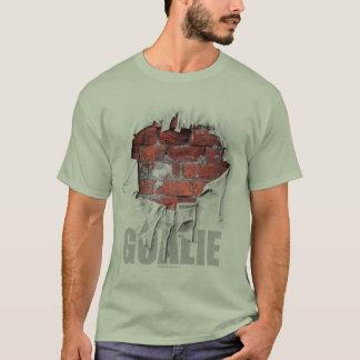 Camiseta Portero rasgado de la pared de ladrillo (hockey)