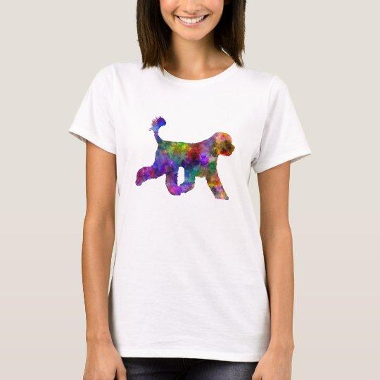 Camiseta Portuguese Water Dog in watercolor