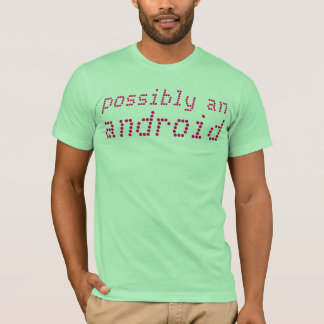 Camiseta posiblemente un androide