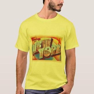 Camiseta Postal grande del viaje de la letra de New York