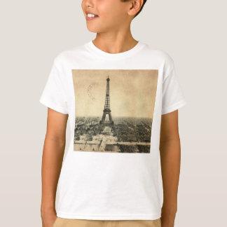 Camiseta Postal rara del vintage con la torre Eiffel en