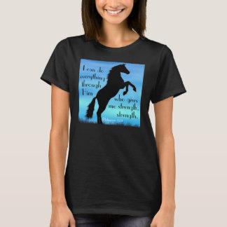 Camiseta poster del caballo del 4:13 de los filipenses del