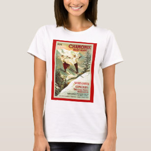Blanc Para MujerZazzle Camisetas es Chamonix Mont KcTlJu3F1