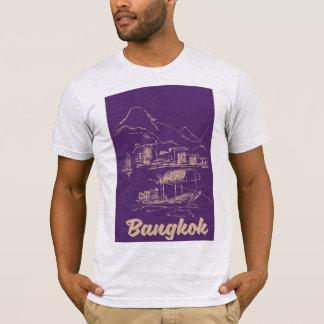 Camiseta Poster del viaje de Bangkok, Tailandia