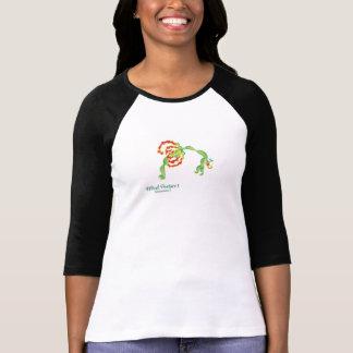 Camiseta (Postura I de la rueda) Bella de las mujeres 3/4