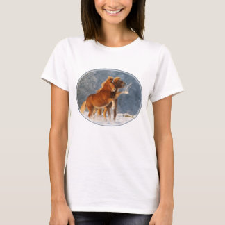 Camiseta Potro islandés de los caballos que juega en la