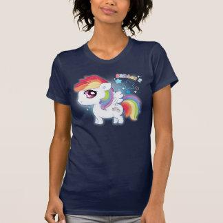 Camiseta Potro lindo del arco iris del kawaii