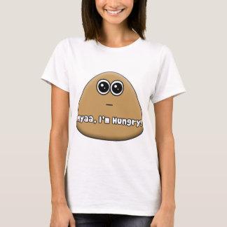 Camiseta Pou hambriento con el texto