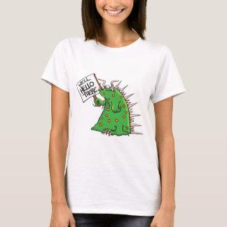 Camiseta Pozo del gráfico de Greep hola allí