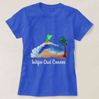 Camiseta Practicando surf ángel, limpie hacia fuera la