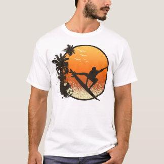 Camiseta Practicar surf el Sun ambarino
