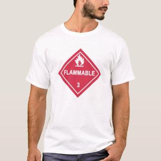 Camiseta ¡Precaución! ¡Inflamable!