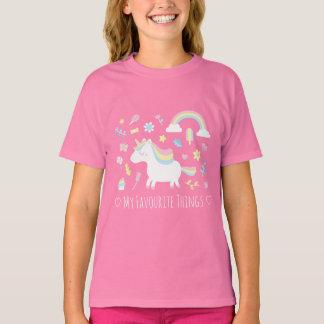 Camiseta preferida de las cosas del unicornio de