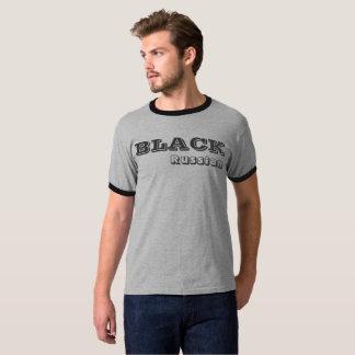 Camiseta preferida rusa negra de la bebida