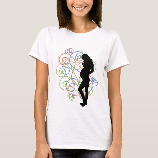 Camiseta Pregnant / Embarazada swirlies