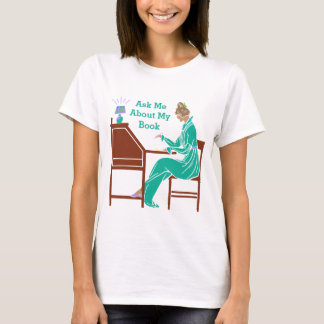 Camiseta Pregúnteme acerca de mi señora Author del art déco
