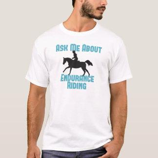 Camiseta Pregúnteme acerca del montar a caballo de