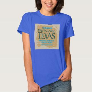 Camiseta prehistórica del rastro de Tejas