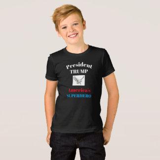Camiseta Presidente gráfico Trump Super de la moda de los