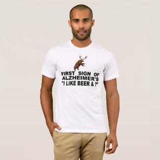 """Camiseta ¿Primera muestra mí de Alzheimer del """"tengo gusto"""