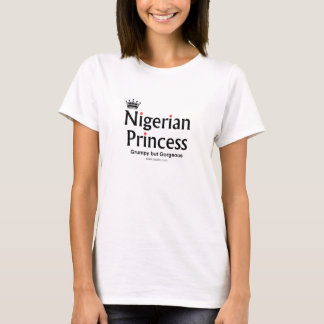 Camiseta Princesa nigeriana magnífica