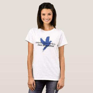 Camiseta Principios con el texto y la paloma