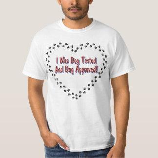Camiseta probada y aprobada del perro