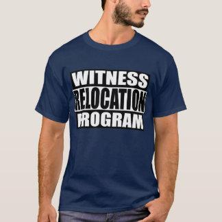 Camiseta Programa de la relocalización del testigo