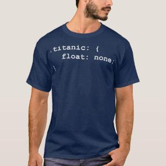 Camiseta Programador del desarrollador titánico