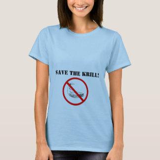 Camiseta ¡prohíba la ballena, ahorre el camarón antártico!