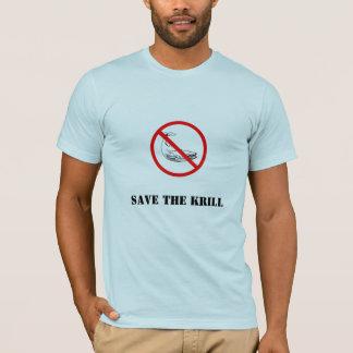Camiseta prohíba la ballena, ahorre el camarón antártico