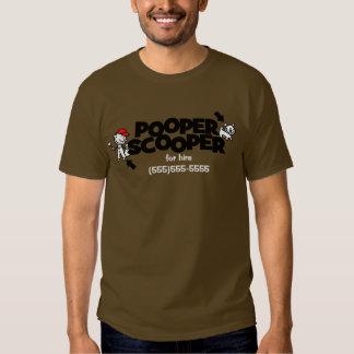 Camiseta promocional del negocio de Pooper Scooper