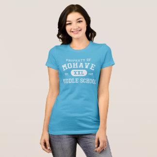 Camiseta Propiedad de la aguamarina de las mujeres de la