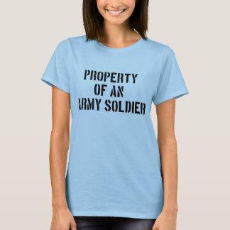 Camiseta Propiedad de un soldado del ejército
